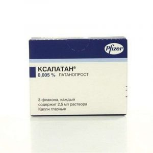 Xalatan eye drops 0.005% 2.5ml 3 pieces